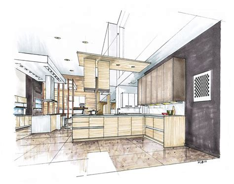 Marker Rendering Interior Design by Inspirational Kitchen Marker Rendering Search