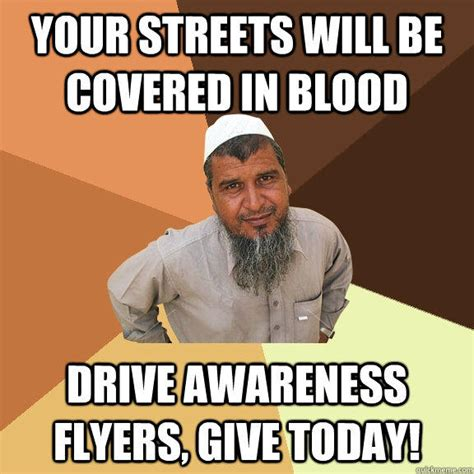 Flyers Meme - your streets will be covered in blood drive awareness