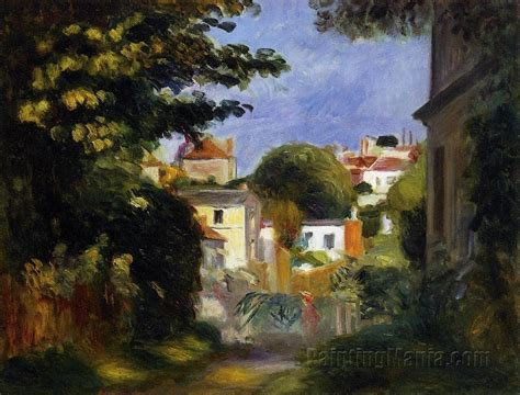 a house among the trees house and figure among the trees pierre auguste renoir paintings