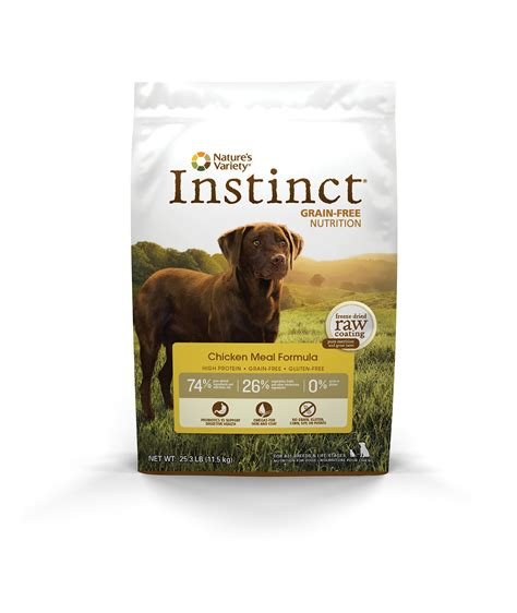instinct food nature s variety instinct grain free chicken meal formula food 25 3 lb bag