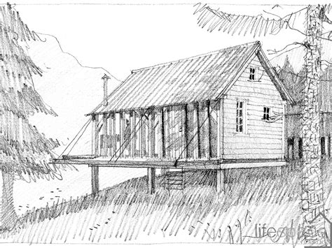 cabin sketch sketch of the rustic foresters cabin with drop sides