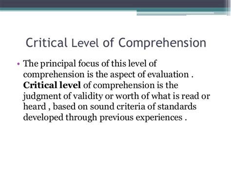 reading comprehension test validity comprehension