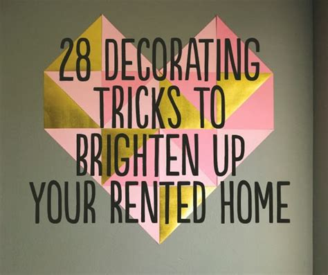 Top 28 Decorating Tricks To - 28 decorating tricks to brighten up your rented home diy