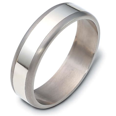 comfort wedding bands 121831tg titanium 14 k gold comfort fit wedding band