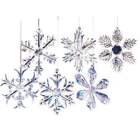 kurt adler 2 quot glass iridescent snowflake christmas