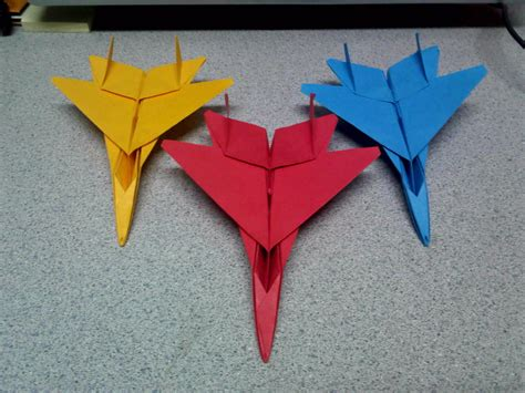 Fighter Jet Origami - origami f15 fighter jets front view by