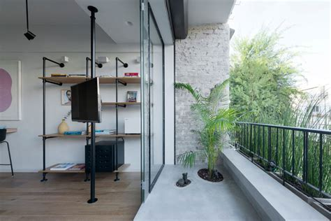 apartment with balcony modern apartment brings japanese beauty to tel aviv