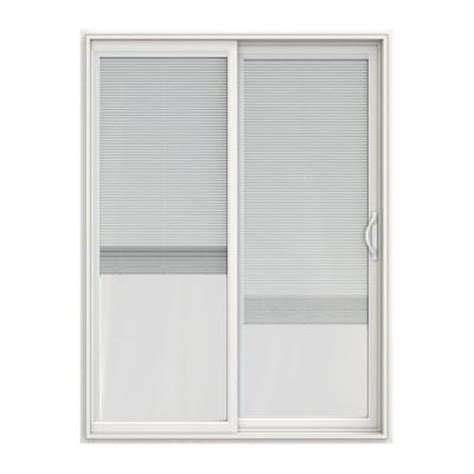 60 X 80 Sliding Patio Door Jeld Wen 60 In X 80 In V 2500 Series Vinyl Sliding Patio Door With Blinds Jw1815 00228 The