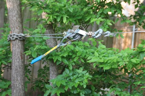 how to make a zip line in your backyard homemade zip line trolley crazy homemade