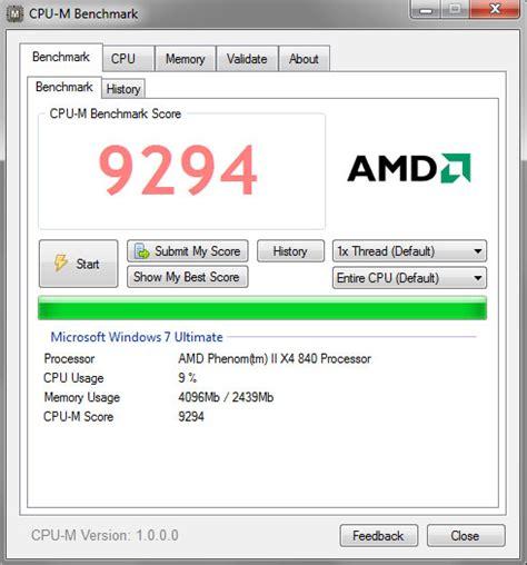 gpu ram test cpu m benchmark lightweight benchmark tool check