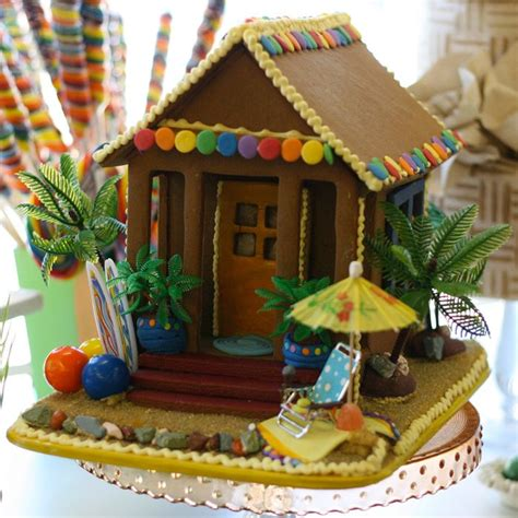gingerbread beach house gingerbread tropical gingerbread house ideas pinterest