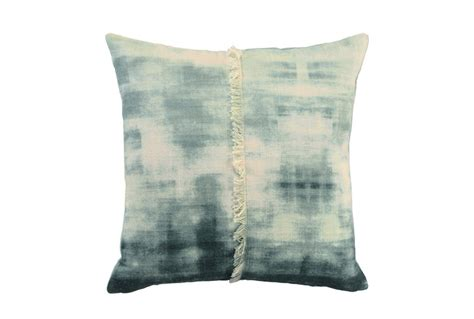 accent pillow aqua tie dye  fringe  living spaces
