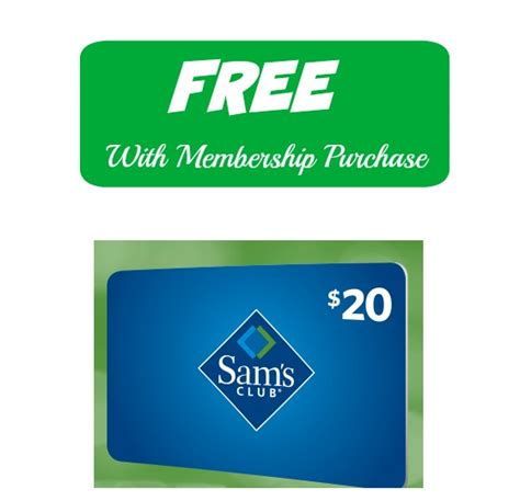 Sams Renewal Gift Card - sam s club free 20 egift card w membership purchase