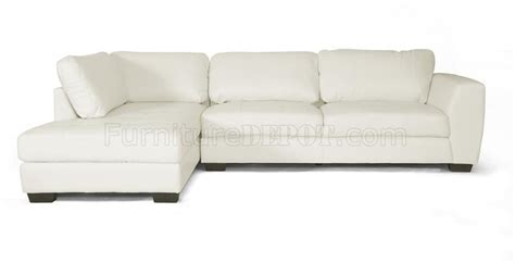 orland sectional sofa white bonded leather wholesale