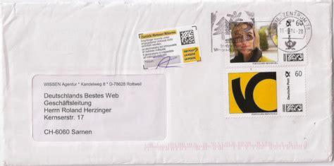 Brief Schweiz Nach Deutschland Dauer Informationen Und Erfahrungen 252 Ber Das Internetportal Deutschlands Bestes Web