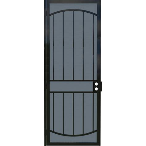 gatehouse gibraltar black steel security door common 34