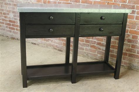 Zinc Console Table Zinc Console Table Ecustomfinishes