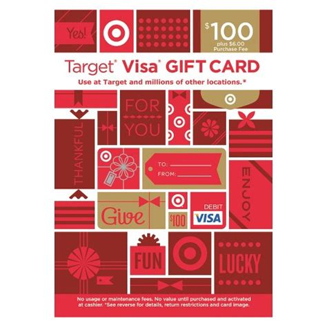 Fee For Visa Gift Card - visa entertainment gift card 100 6 fee target