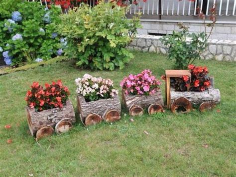 15 diy garden decoration with fallen tree or logs that you