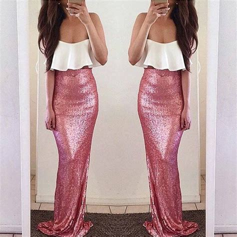 Closet Couture by Pink Sequin Mermaid Maxi Closet Couture