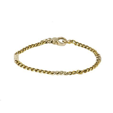 bracciale pomellato bracciale uomo oro giallo pomellato luxuryzone