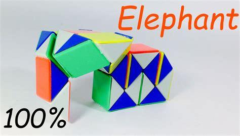 pattern for rubik s triangle rubik s snake patterns elephant youtube