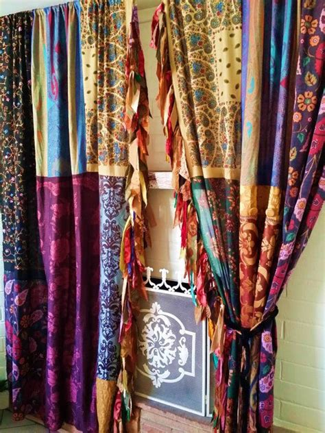 hippie curtains boho gypsy curtains drapes fall hippie luxe made to order