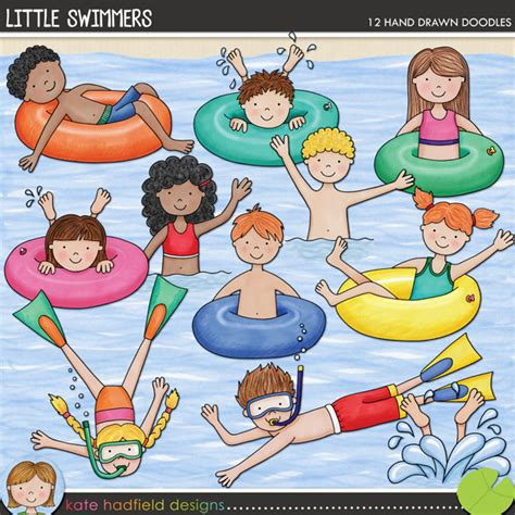 doodle swimming doodles illustrations digital elements the lilypad