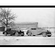 1930 Maybach DS7 Zeppelin  Front Of Factory In