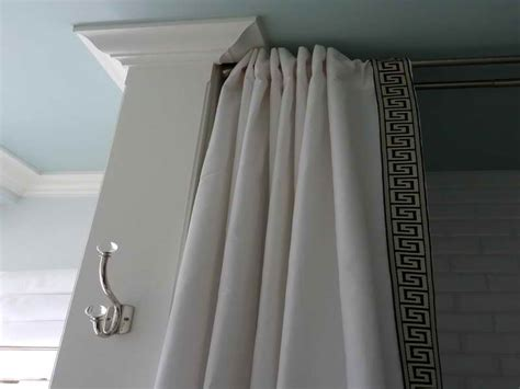 how to hang shower curtain rod exceptional hang curtain rod from ceiling 12 shower