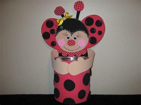 decorar latas con goma eva lata decorada mariquita san antonio manualidades en goma