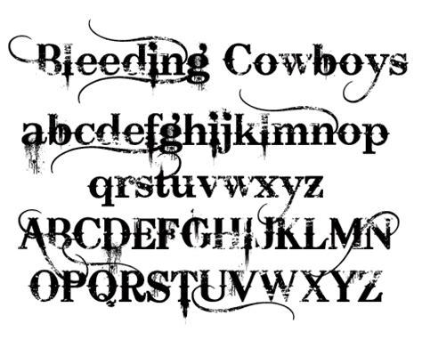 tattoo font bleeding cowboy font update bleeding cowboys bittbox