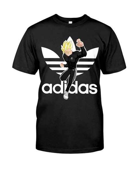 T Shirt Saiyan adidas trunks saiyan cotton t shirt goku redzila