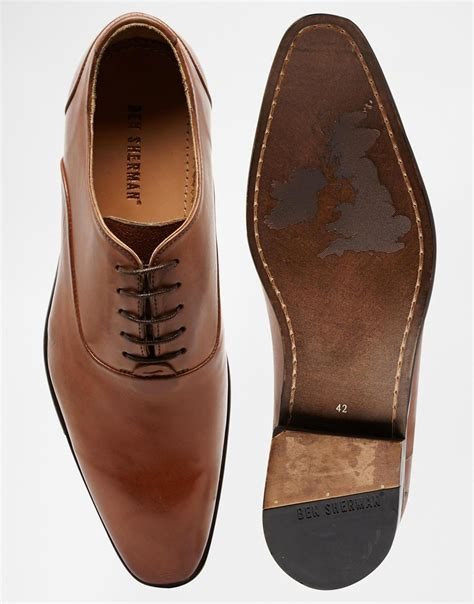 ben sherman oxford shoes lyst ben sherman iley oxford shoes in brown for