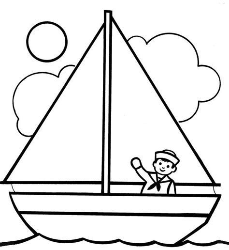 boat template boats coloring pages miscellaneous coloring pages