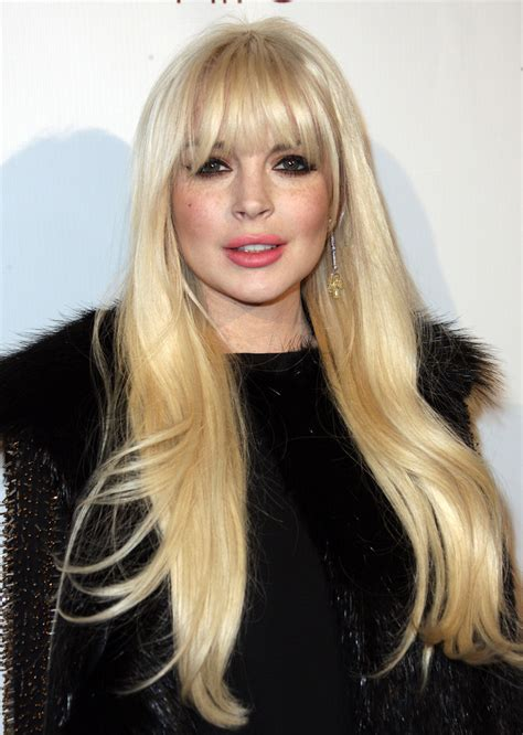 Lindsay Lohan Hairstyles by Lindsay Lohan Cut With Bangs