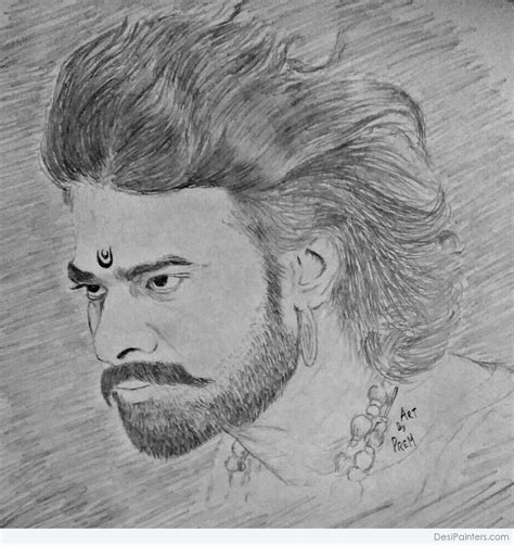 Bahubali 1 Sketches by Pencil Sketch Of Bahubali Actor Parbhas Desipainters