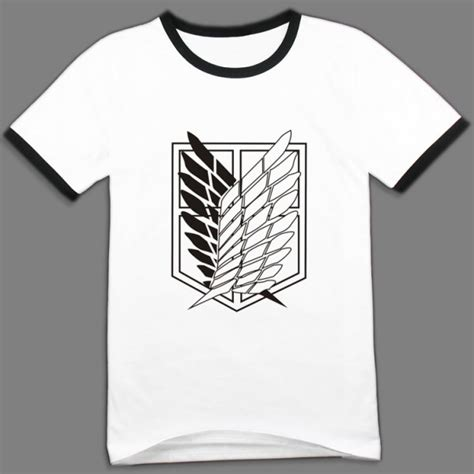 Kaos T Shirt Attack On Titan 08 shingeki no kyojin attack on titan classical white t