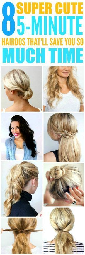 5 Minute Hairstyles For Hair by Best 25 5 Minute Hairstyles Ideas On Easy