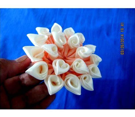 imagenes flores kanzashi flores kanzashi hermosos p 233 talos de dos colores en cintas
