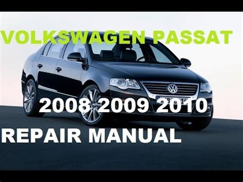 volkswagen passat 2008 2009 2010 repair manual youtube