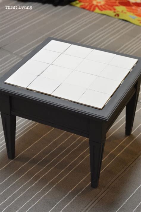 ceramic tile table top how to tile a table top with your own ceramic tiles