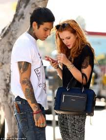 newly single bella thorne steps out with male friend after