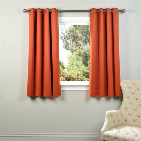 orange blackout curtains exclusive fabrics furnishings blaze orange grommet