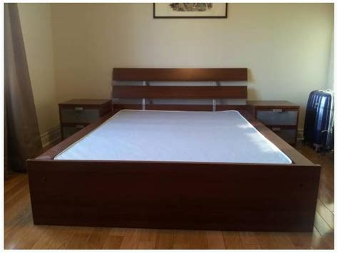 ikea hopen bett ikea hopen bed frame medium brown west shore