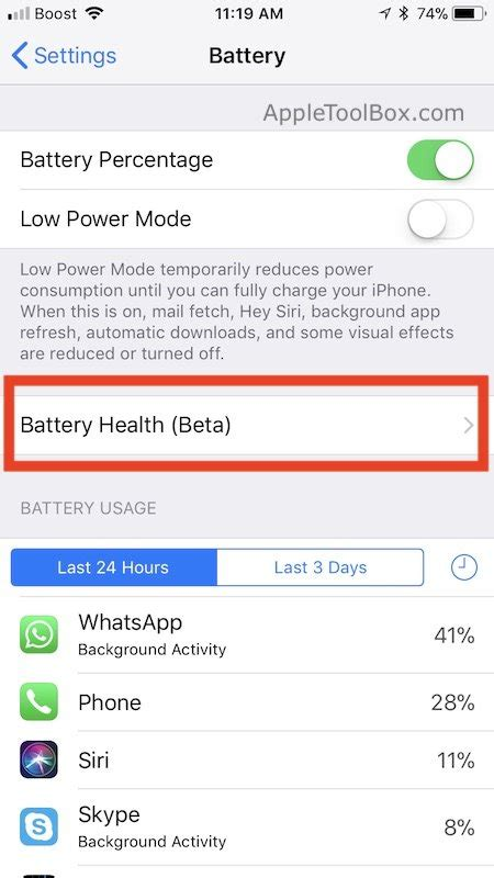 checking your iphone battery health using ios 11 3 and best battery optimization appletoolbox