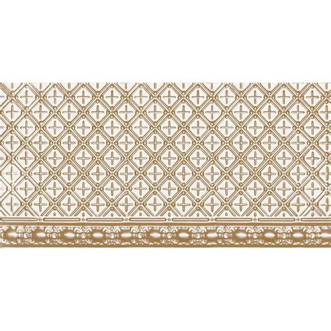 shanko 2 ft x 4 ft nail up tin ceiling tile in satin