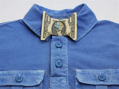 Origami Bow Tie Dollar - make a dollar bill bow tie origami and craft