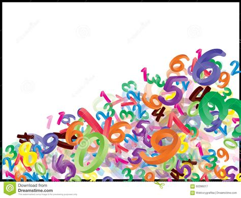 white background with falling numbers background of falling cartoon numbers digits funny