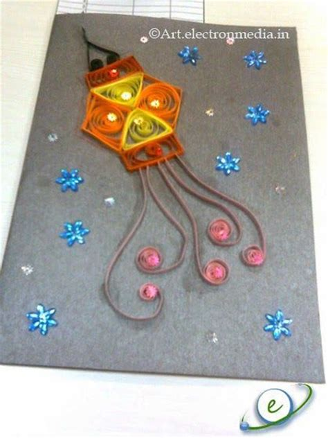 Handmade Diwali Lantern - diwali cards diwali and card on